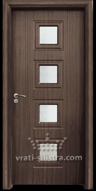 Интериорна HDF врата, модел 021 Орех