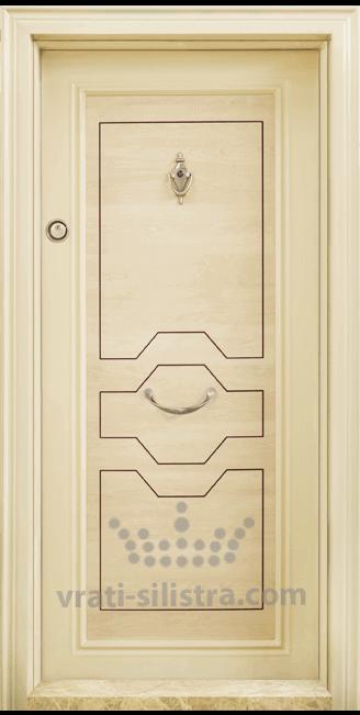 Блиндирана входна врата, модел Т306 Клен
